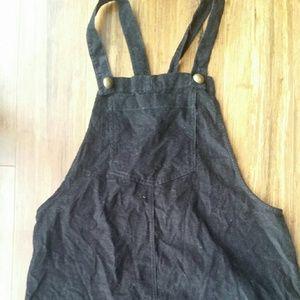 Corduroy overall skirt